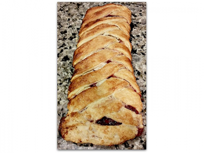 Amaretto Cherry Strudel with Homemade Vegan Puff Pastry