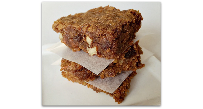 Carrot Cake Blondies with Spiced Rum