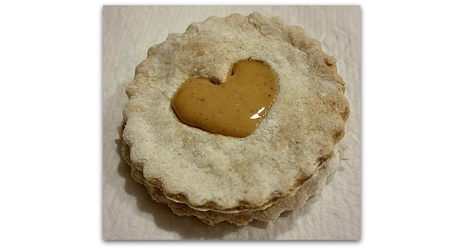 Heart-Shaped Linzer Dog Biscuits for Valentine's Day