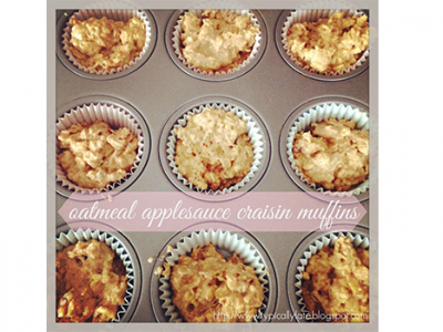 Oatmeal Applesauce Craisin Muffins Recipe