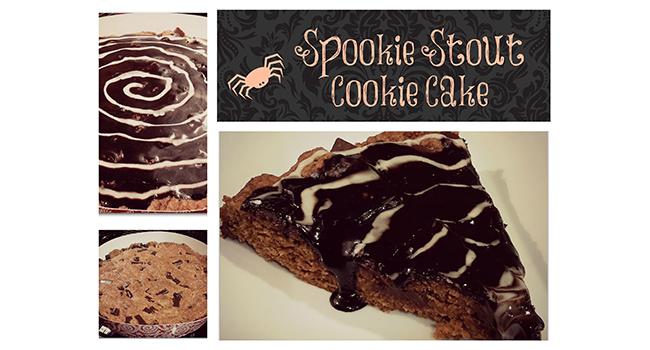 """Spookie"" Stout Cookie Cake"